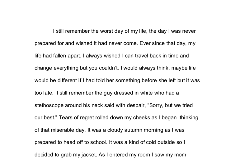 essay about change in my life