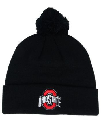 finest selection 5776c e3e4c Top of the World Ohio State Buckeyes Core Pom Knit Hat - Black Adjustable