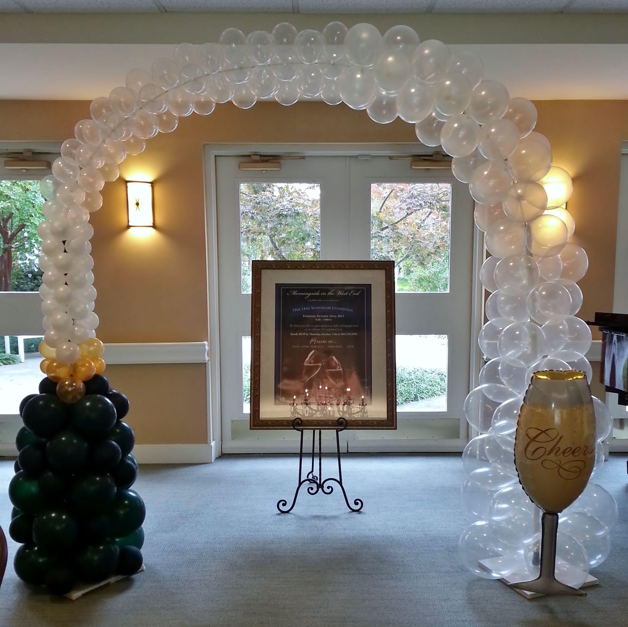 91 balloon art interior design dromik tadao cern for Champagne balloon wall