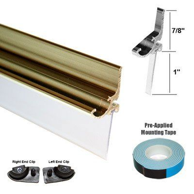 Gold Framed Shower Door Replacement Drip Rail With Vinyl Sweep 35 Long Check This Awesome Product By Going Framed Shower Door Framed Shower Shower Doors