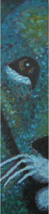 Leeuw Acryl op doek 30 x 120 cm door Ans van Essen