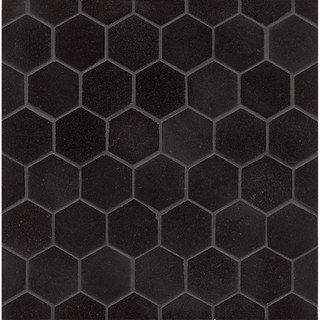 Somertile 7x8 inch hextile matte black porcelain floor and for Carreaux faience 11x11
