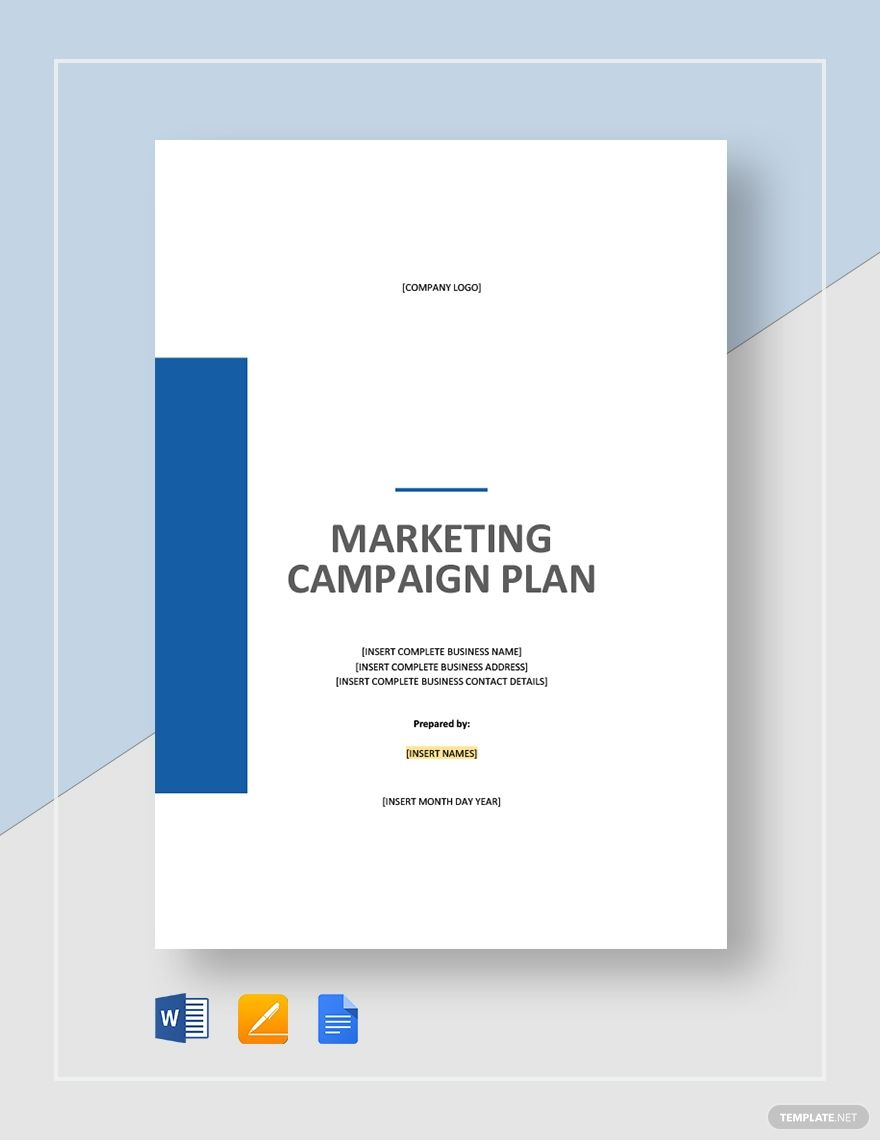 Marketing Campaign Plan How To Plan Templates Marketing