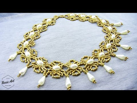 Photo of How To Make Golden Necklace from Seed Beads