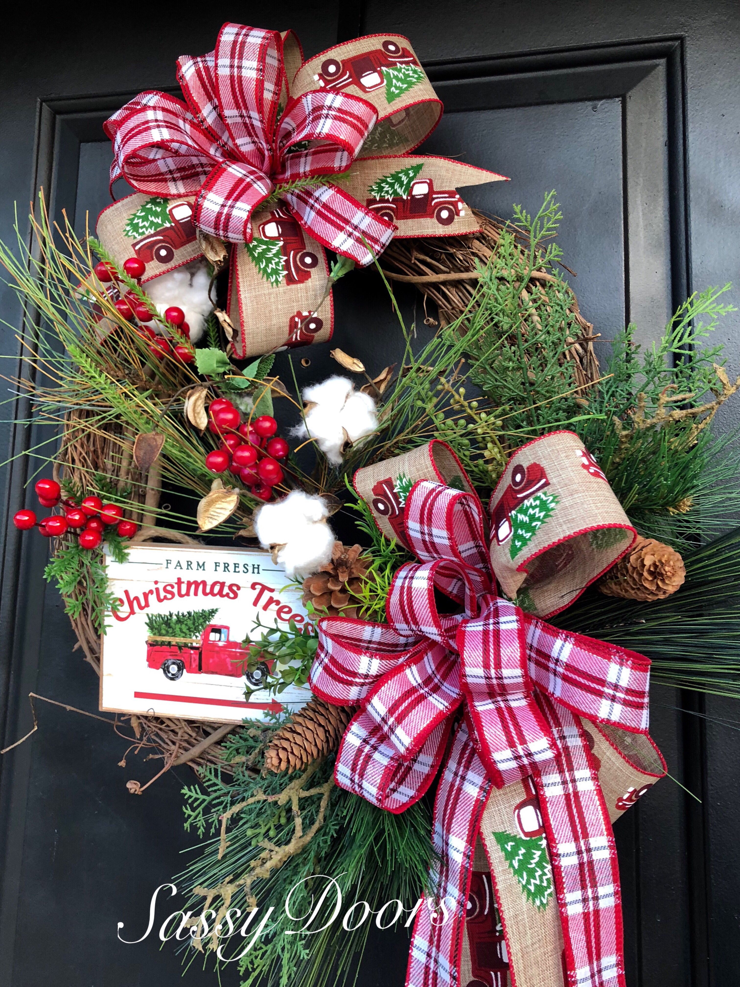 Pin by Sassy Doors on Christmas wreaths Grapevine
