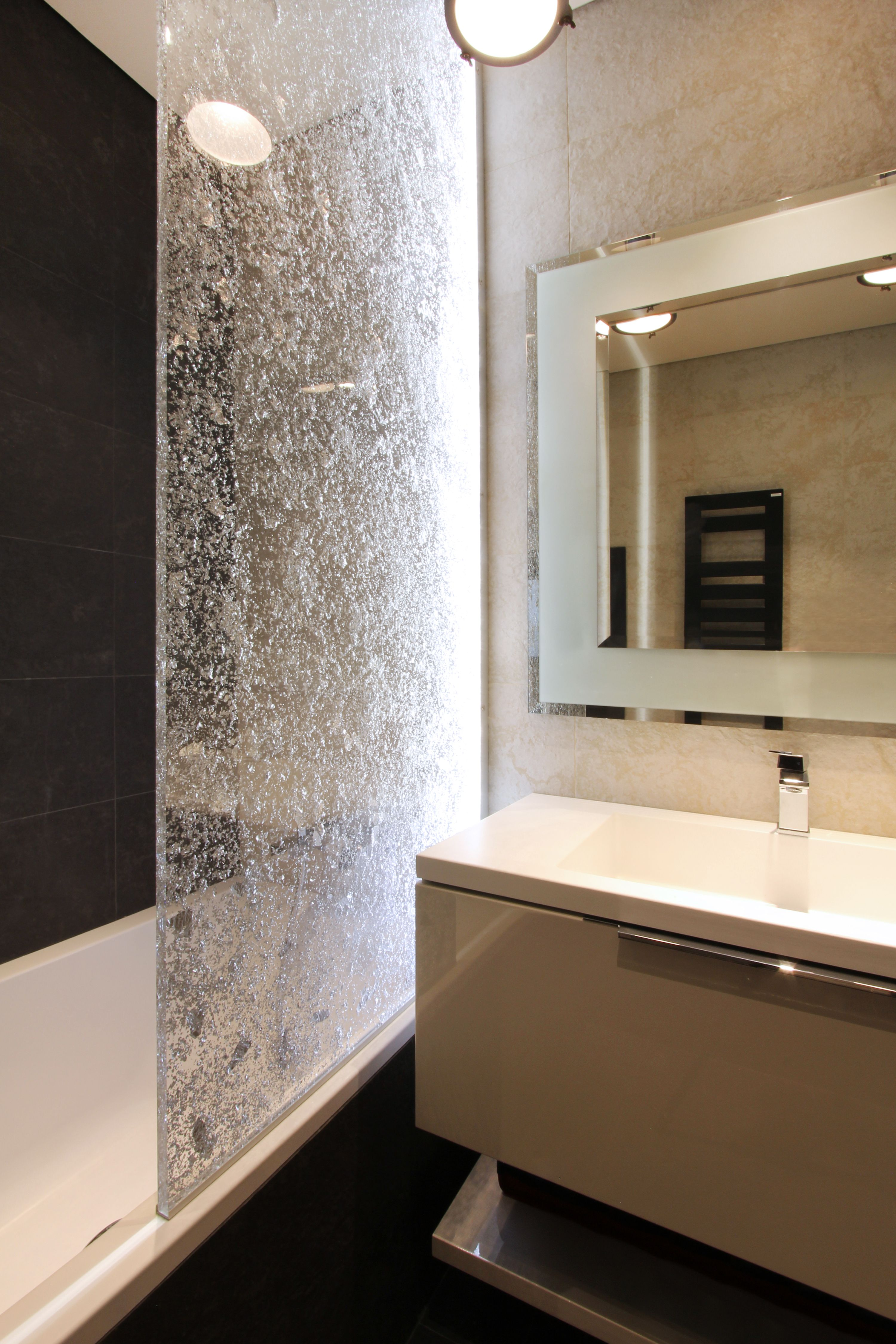 Salle De Bain Mur Douche ~ salle de bain paroi douche plexi incrust nos r alisations