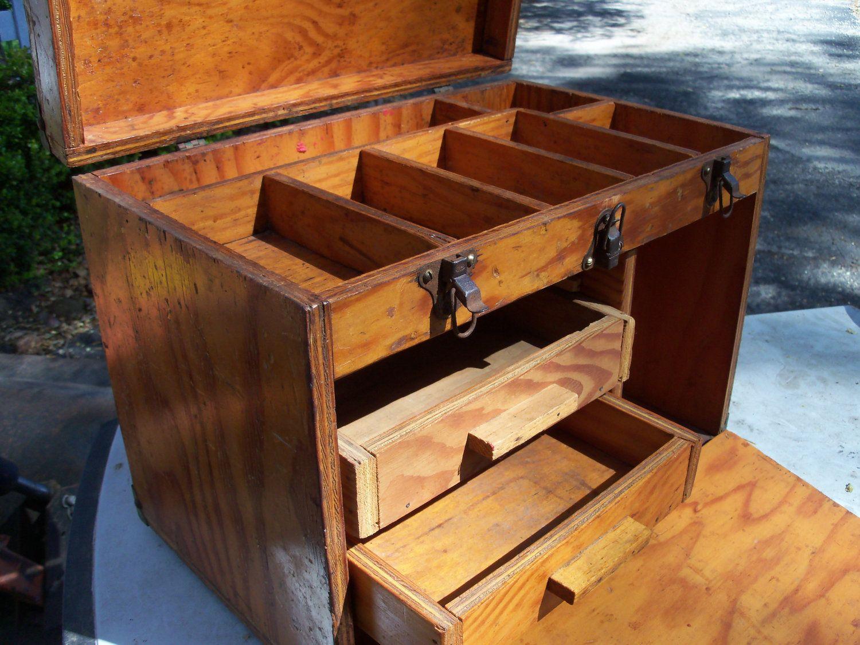 rustic wooden tool box handmade tool