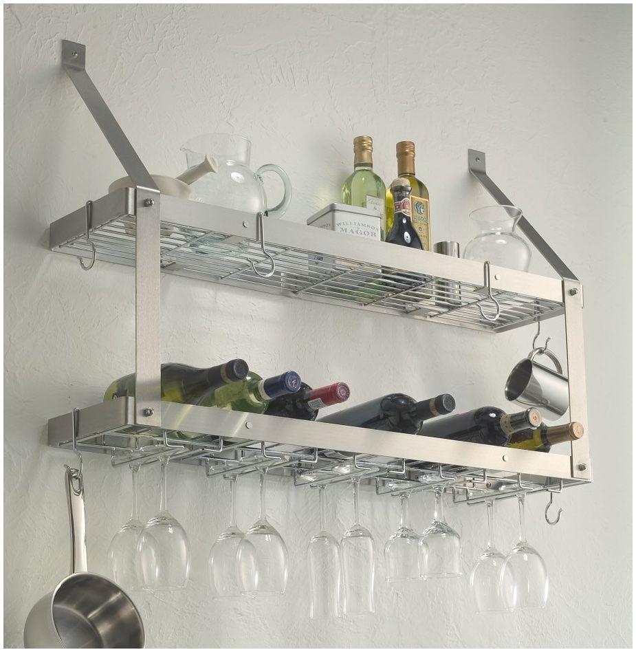 Schwimmende Regal Ideen Küche Edelstahl Regale Modernes Material