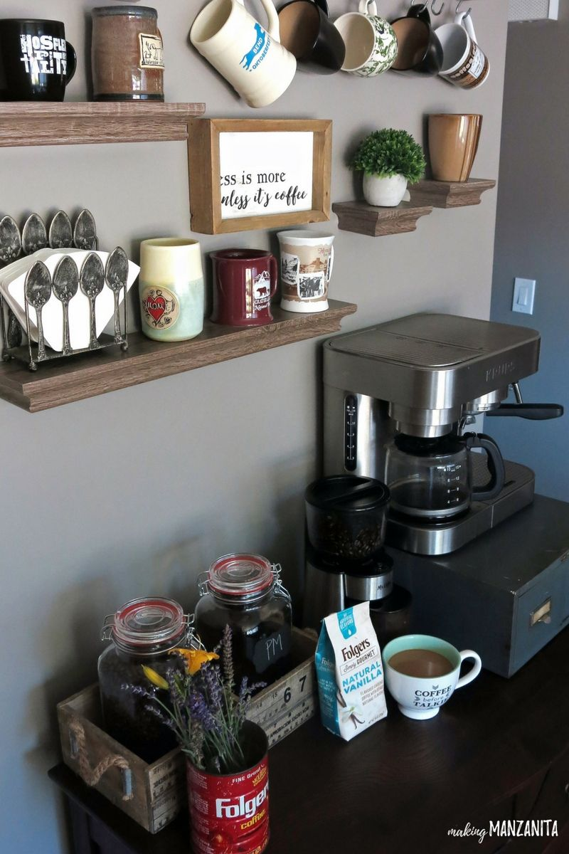 How to Create a DIY Coffee Station at Home Home coffee