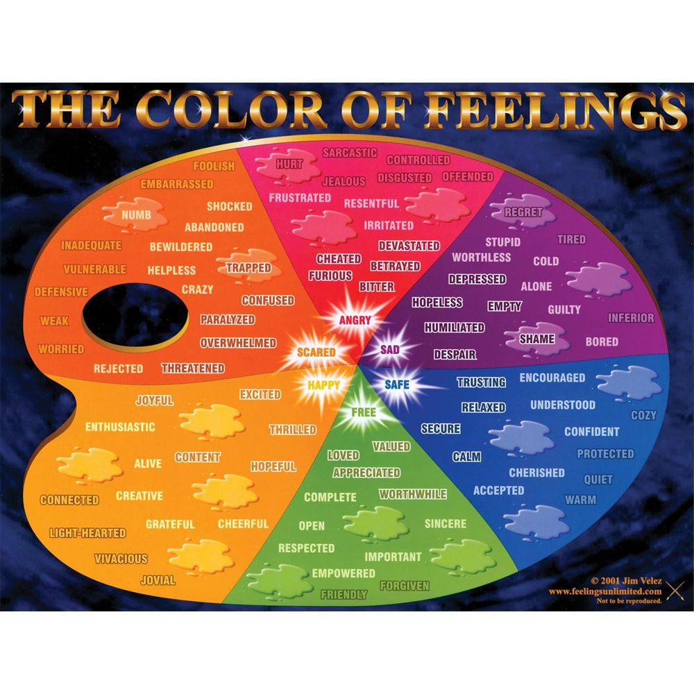 Heres another example the color of feelings palette