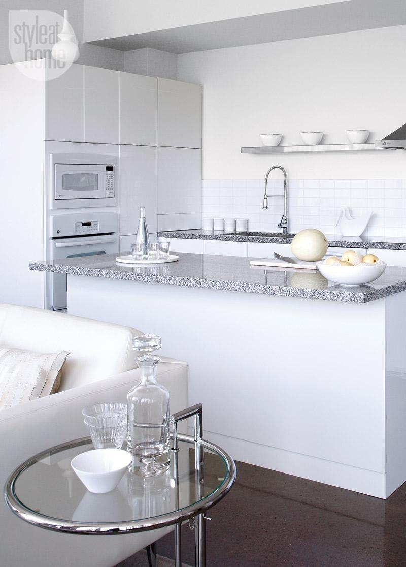 Condo Tour A Warm All White Design Kitchen Design Decor White Kitchen Decor White Kitchen Appliances