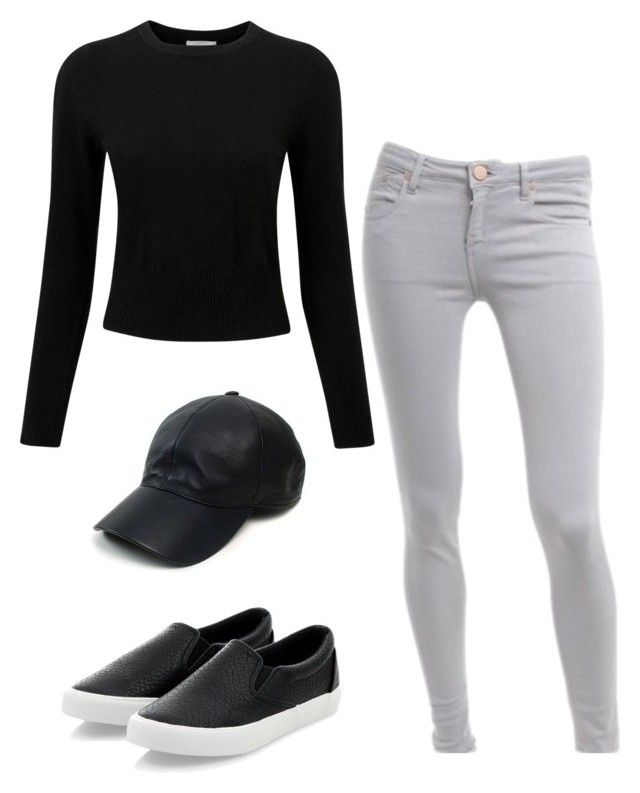 """Grey and black"" by tat-nicole on Polyvore featuring Victoria Beckham, Pure Collection, Vianel, women's clothing, women's fashion, women, female, woman, misses and juniors"