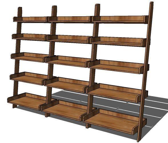 Build A Leaning Wall Shelf