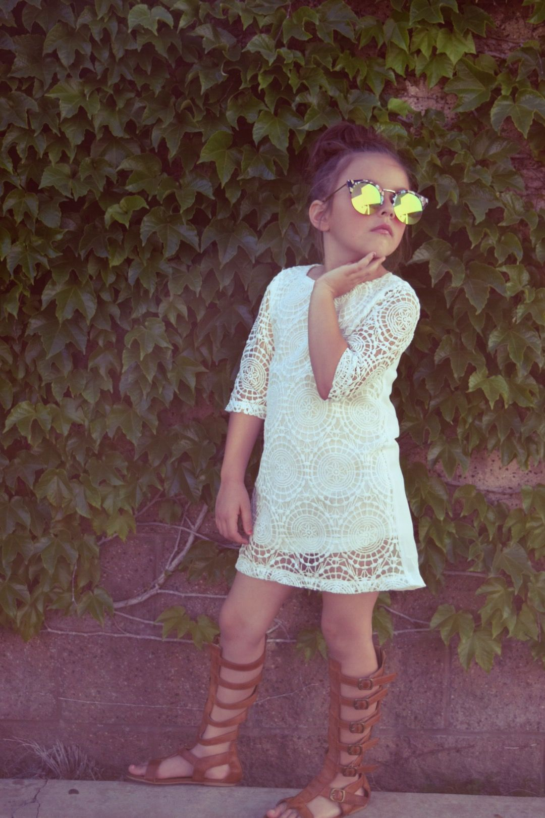 Beautiful crochet dresses for kids trendy - Lily Dress With Lace 32 Little Girls White Crochet Dress Bohemian Clothes For