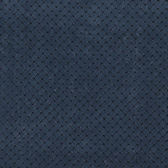 Navy Blue Criss Cross Trellis Microfiber Upholstery Fabric By The