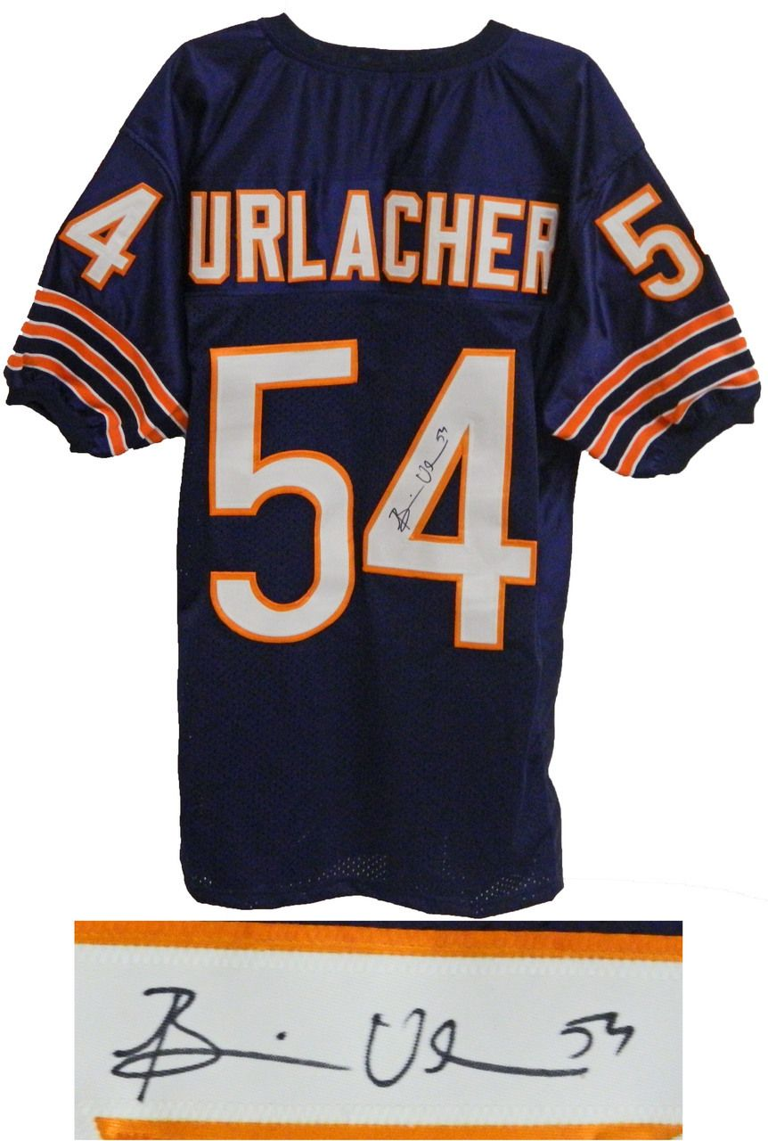 pretty nice e4ccc 4d223 Brian Urlacher Signed Navy Custom Chicago Bears Jersey ...