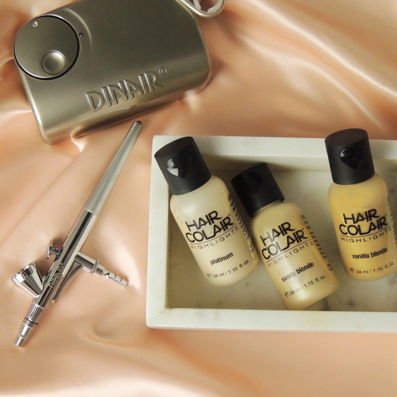 Dinair Hair Colair! Airbrush makeup kit, Airbrush