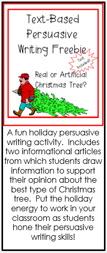 A Fun Holiday Persuasive Writing Activity Include Two Informational Article From Activitie Christma Opinion Essay