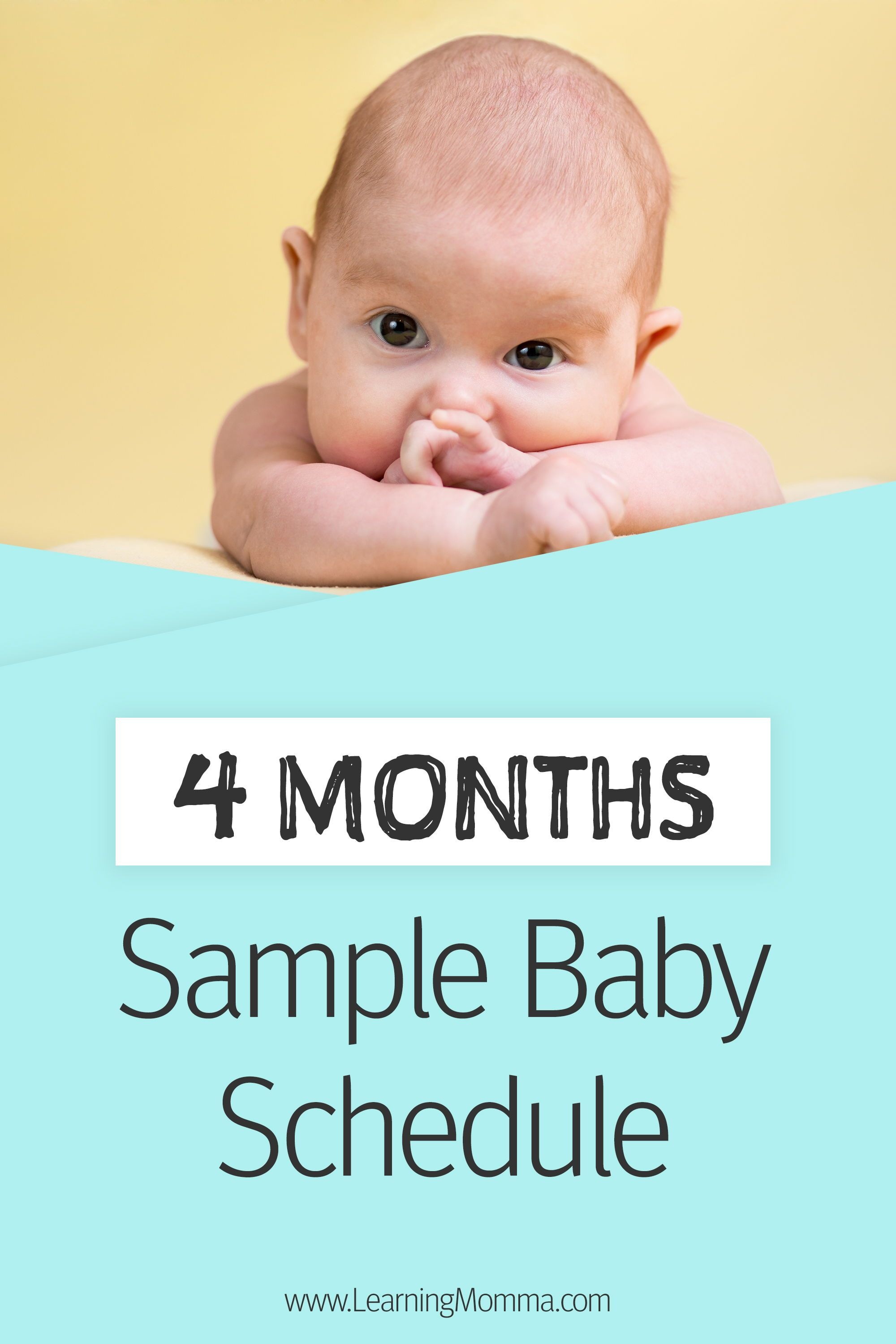 4 Month Old Schedule Sample