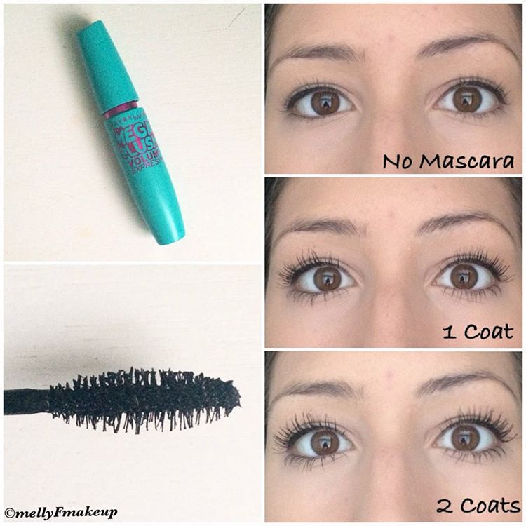 32d698dc3a4 Maybelline Mega Plush Mascara in Blackest Black. Follow my instagram  @mellyfmakeup for more!