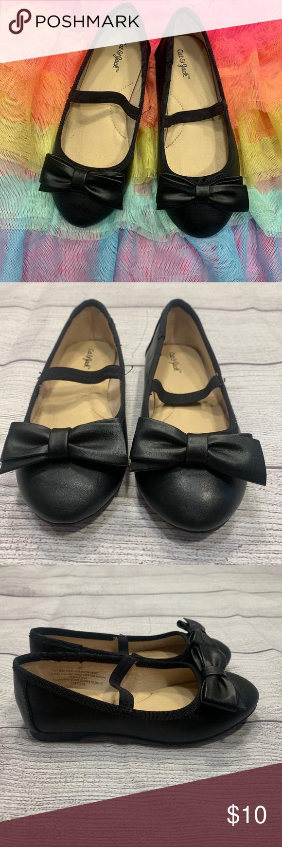 Cat \u0026 Jack Black Dress Shoes w/Bow