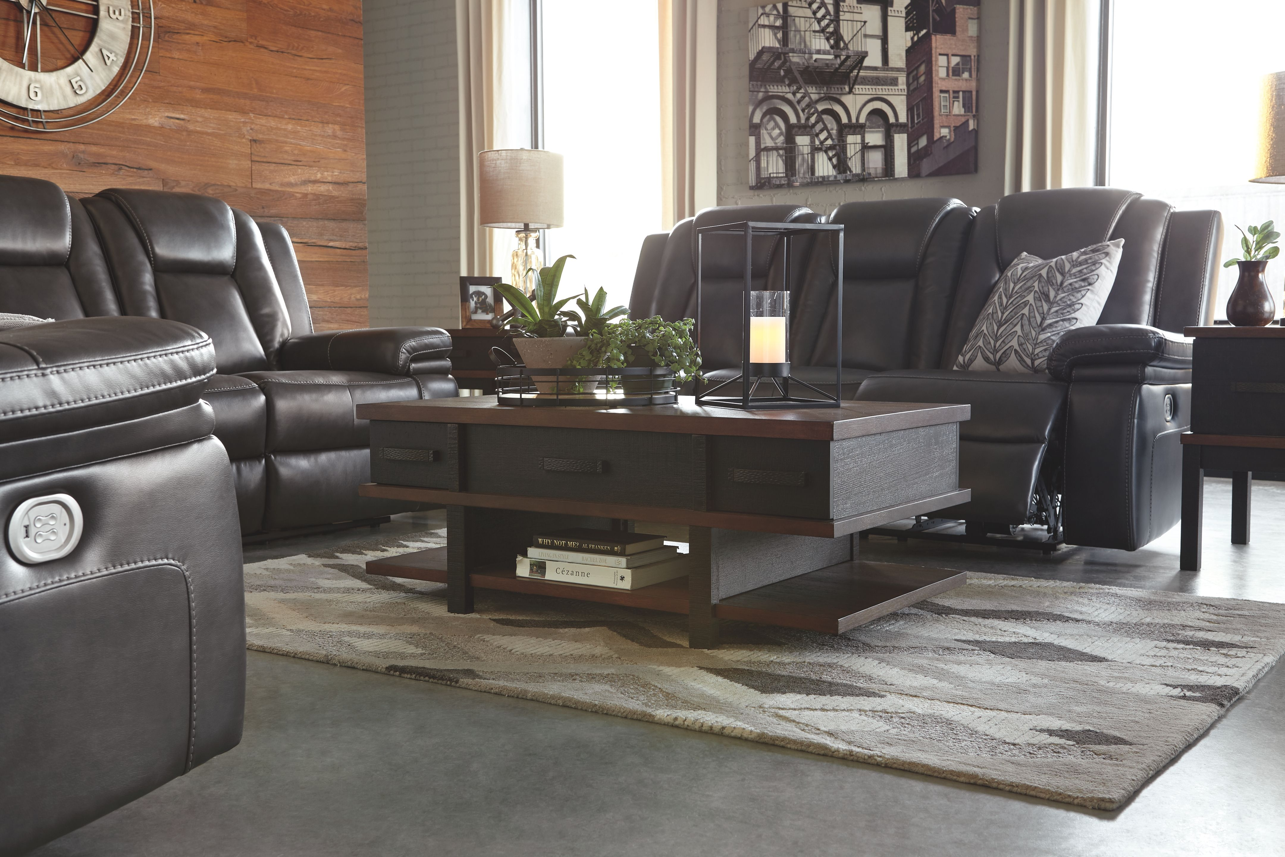 Garristown Power Reclining Loveseat Gray Products Power