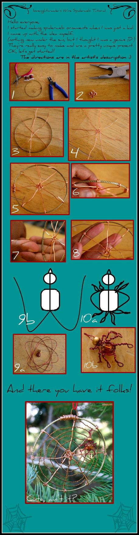 Spiderweb Ornament Tutorial... by ~ilovenightcrawler on deviantART
