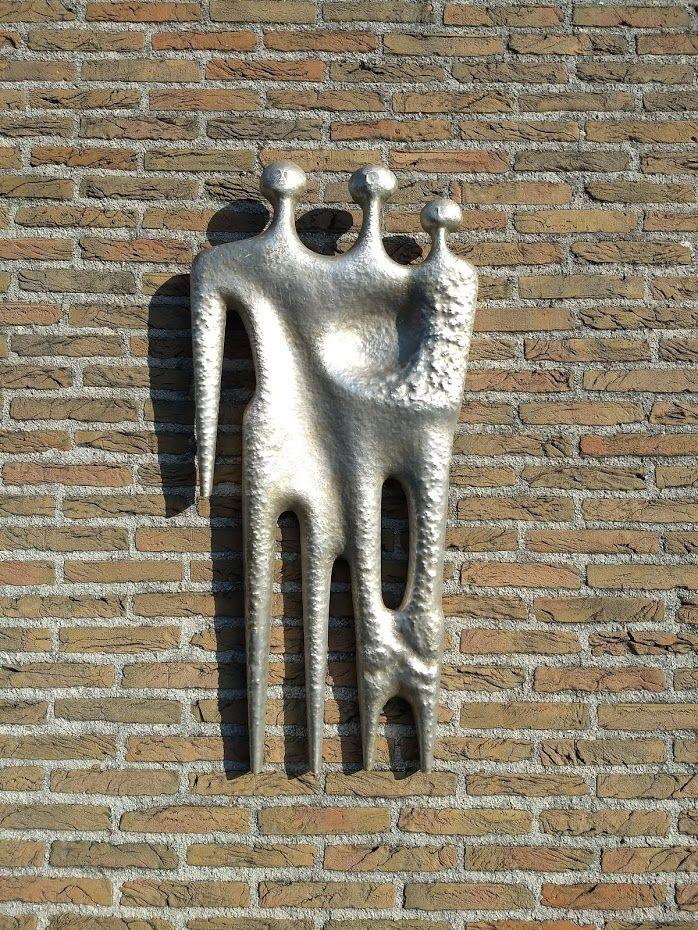 70's Aluminium sculptuur VAN GEERT K. Sculpturen