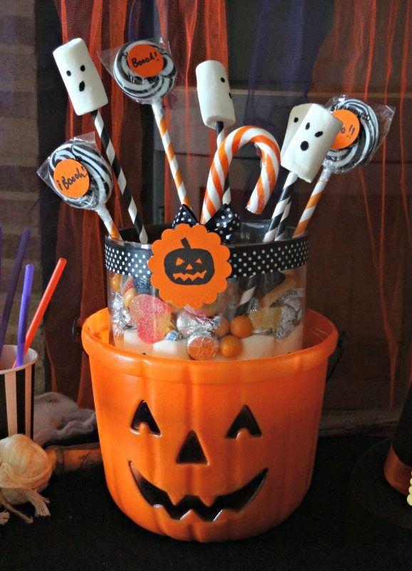 Centro mesa fiestas de halloween infantiles pinterest for Centros de mesa para halloween