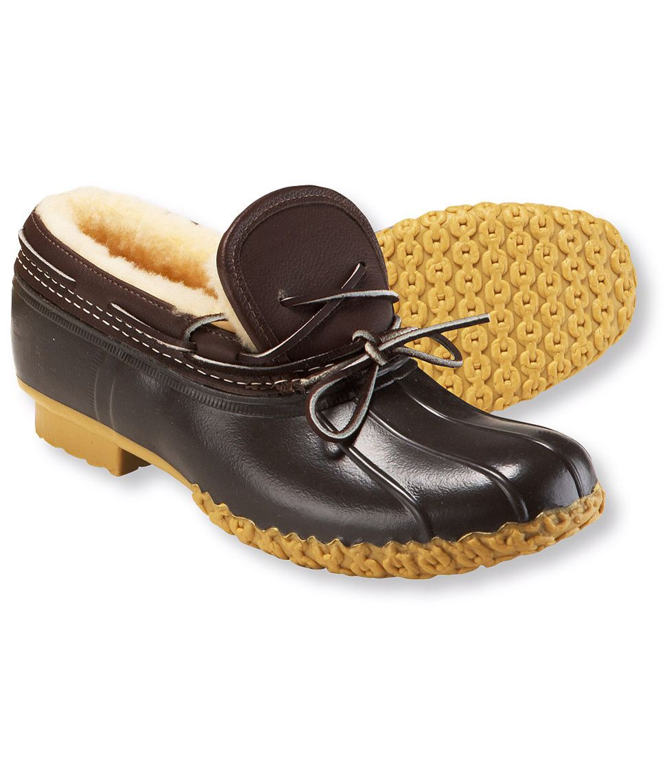 L.l.Bean moc lo shearling Cold weather shoes, Bean boots