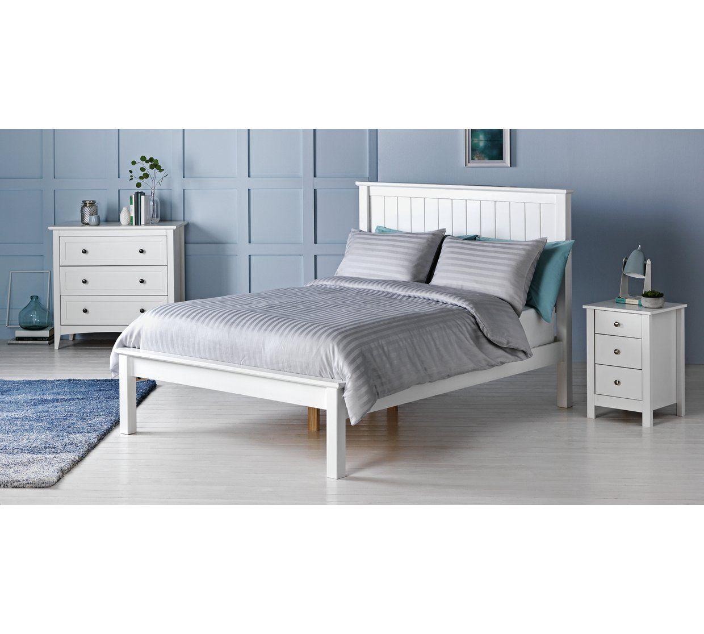 Best Buy Argos Home Grafton Kingsize Bed Frame White Bed 400 x 300