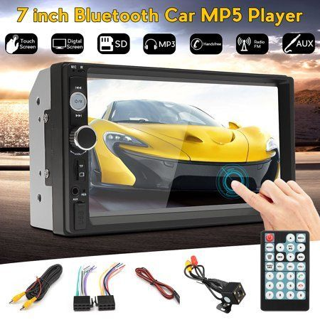 Auto & Tires #touchscreendisplay Grtsunsea 7 Inch Car radio 2 din HD bluetooth Car Stereo Receiver MP3 MP5 Player For Car with Rear View Camera and Digital Touch Screen Display, Black #touchscreendisplay