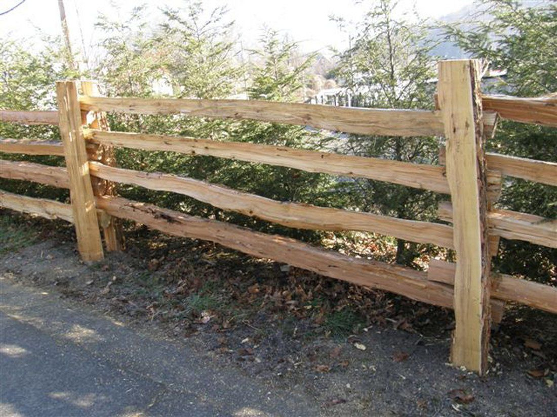 Bark house fence traditional stack fence provides a beautiful authentic split rail fence posts and rails baanklon Gallery