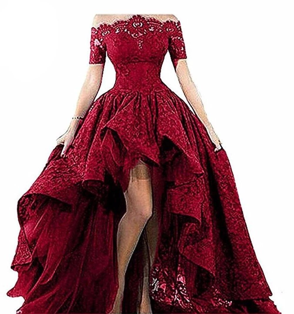 Short Sleeves High Low Prom Dresses High Low Prom Dresses Elegant Prom Dresses High Low Evening Dresses [ 1067 x 1000 Pixel ]