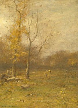 John Francis Murphy  An Old Clearing, 1919  (Oil on canvas, 16 x 22 inches)  Spanierman Gallery, NYC