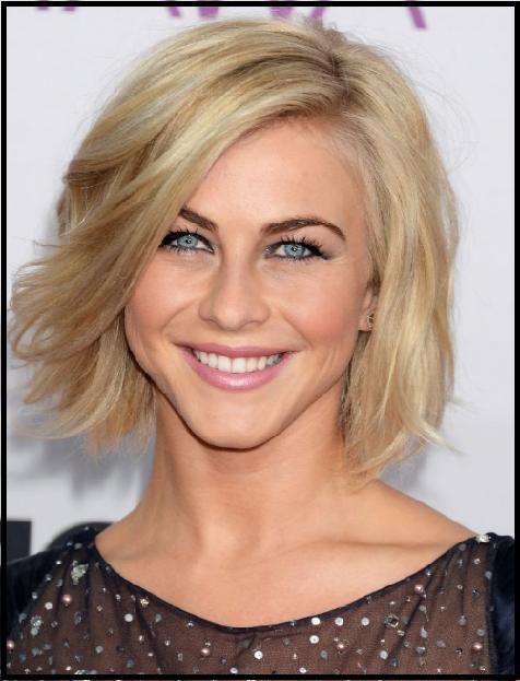 Moderne Bob Frisuren Damen Julianne Hough Blond Frisuren