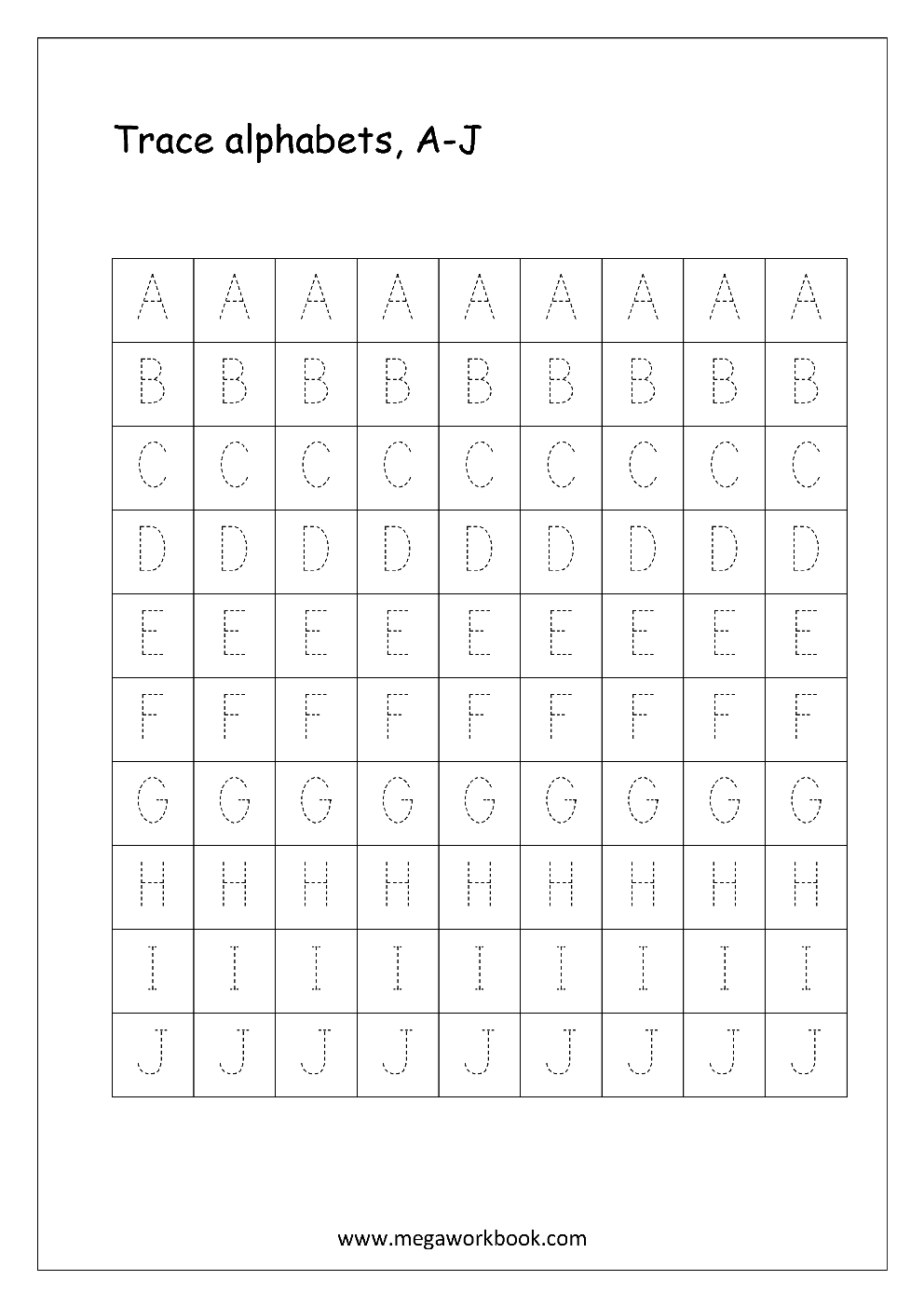 graphic regarding Printable Capital Letters identify English Worksheet - Alphabet Tracing - Funds Letters