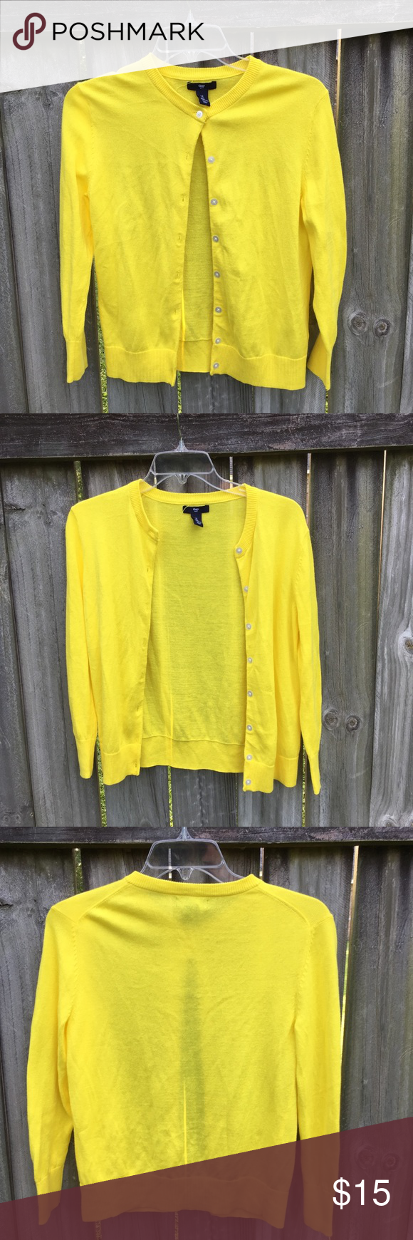 Bright Yellow Cardigan | Yellow cardigan, Bright yellow and ...