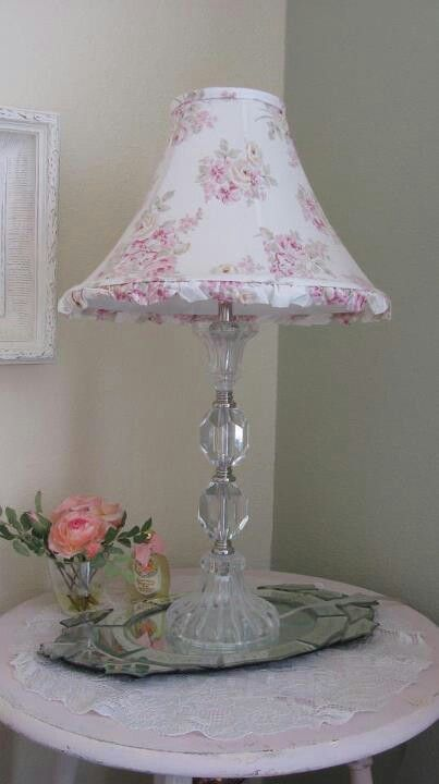 shabby chic lamp where can i find this shade i need it toile rh pinterest com