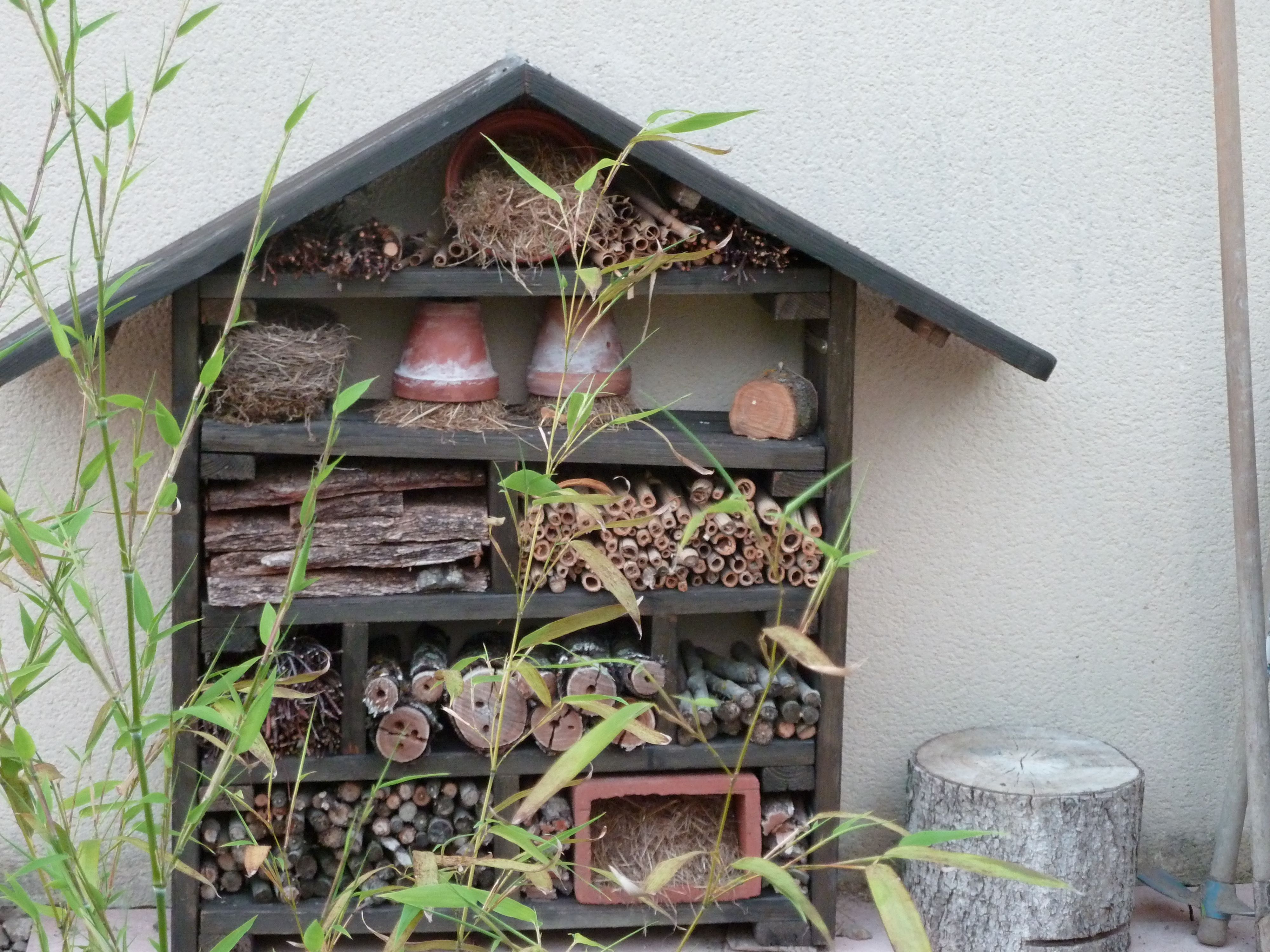 h tel insectes insektenhotel vogelhuisjes pinterest insect hotel and mason bees. Black Bedroom Furniture Sets. Home Design Ideas