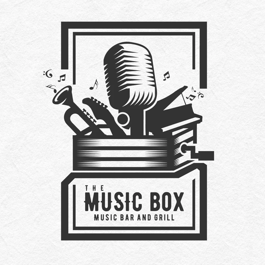 23 Of The Coolest Vintage And Retro Logos 99designs Retro Logos Band Logo Design Music Box Vintage