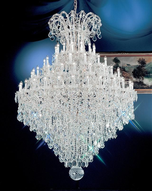 "Classic Lighting 8187 CH S Swarovski Strass Maria Thersea 88"" Crystal"