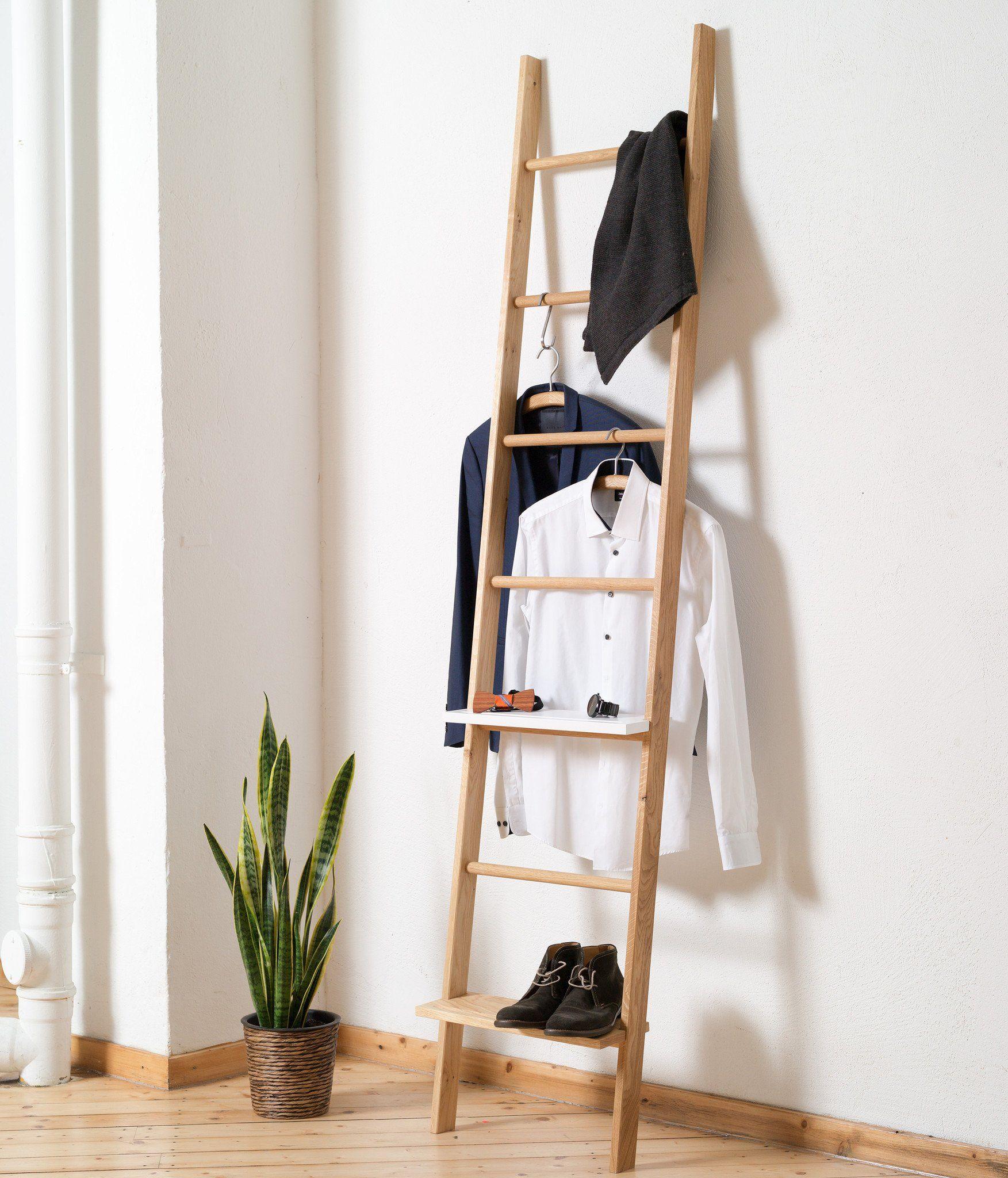 Kleiderleiter lang   Massivholz   Kleiderleiter, Schlafzimmer aufbewahrung, Kleiderständer ...