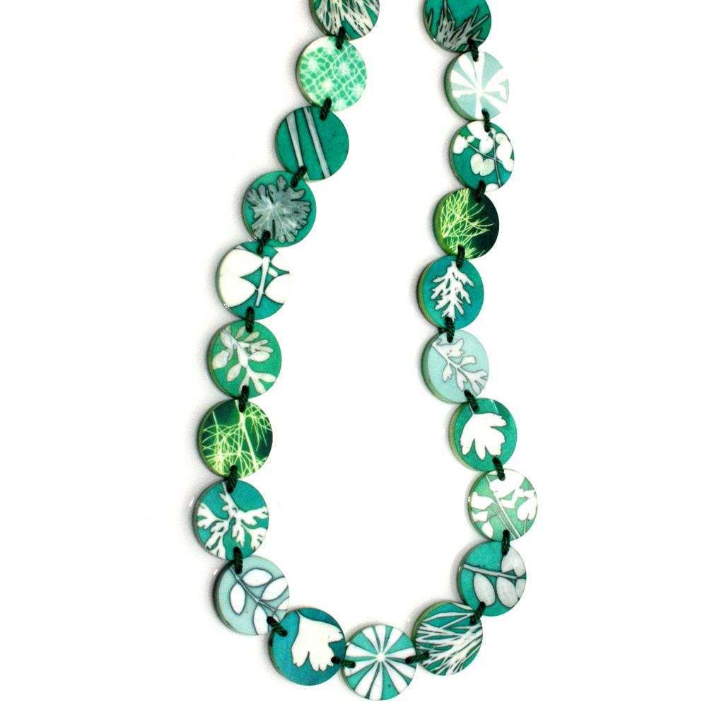 green sampler necklaces - Sue Gregor