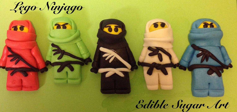 Fondant Lego Ninjago Cake Topper | lego | Lego ninjago cake