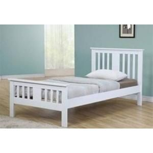 Terra Solid Wood White Double Bed Frame Next Day Delivery
