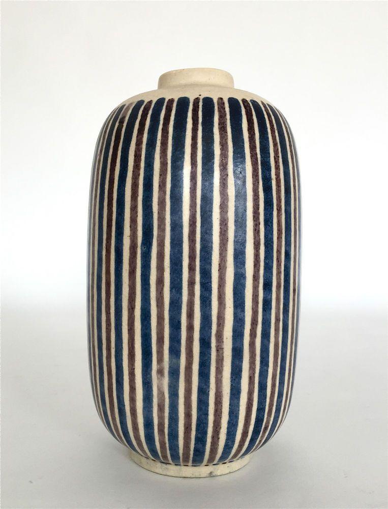 Unique Nils Thorsson Stoneware Art Deco Vase Royal Copenhagen