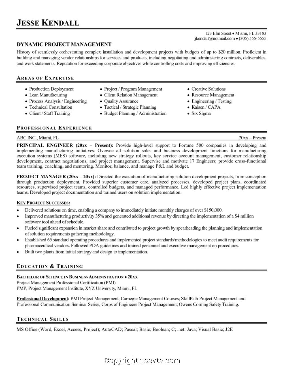 Supply Chain Resume Objective Awesome Project Manager