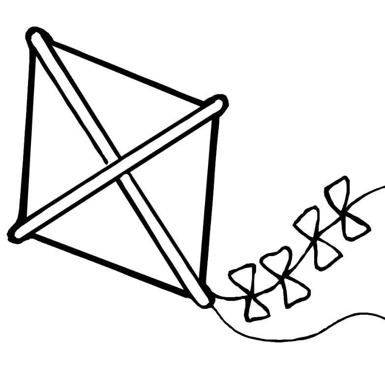 Free Kite Coloring Pages holiday Pinterest Kites Kids