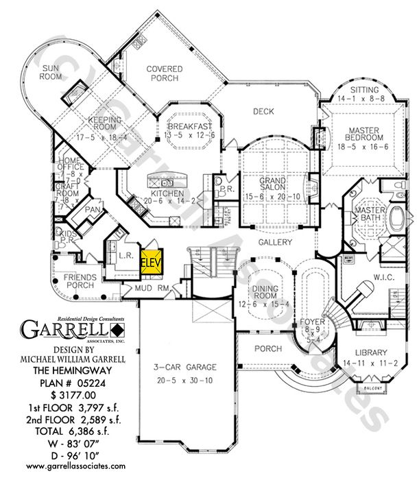 Hemingway House 05224 6386 Sq Ft 5 Bed 5 5 Bath 2 Story 3